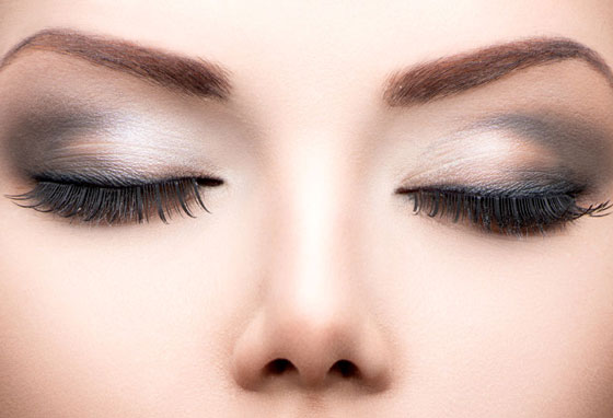 Lash Extensions - Image of woman's face with Russian Lashes applied